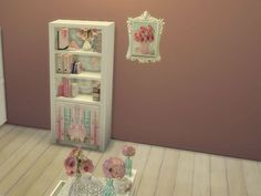 Venncat's Shabby Chic Floral Bookcase Pink Books
