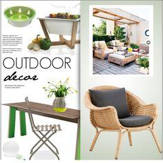 Outdoor Decor by lovethesign-eu on Polyvore featuring interior, interiors, interior design, Casa, home decor, interior decorating, Ethimo, Pedrali, Alessi and Serax