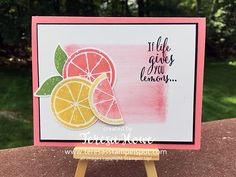 If Life Gives You Lemons – Teresa's Stampin' Spot Spellbinders Cards, Scrapbook Cards, Scrapbooking, Stampin Up Catalog, Bird Cards, Stamping Up Cards, Marianne Design, Get Well Cards, Cards For Friends