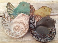 Little Chickadees by Etta B. Pottery - Decorative and Functional Handcrafted and Hand Painted Pottery proudly made in Etta, Mississippi. Etta B. features smooth matte and glossy glazes that make wonderful compliments to today's home decor. Each piece has unique textures and detailed patterns - in true artisan fashion, no two pieces are just alike! Microwave, Dishwasher and Oven Safe with Care. Visit Babcock Gifts in Memphis, TN to see more!