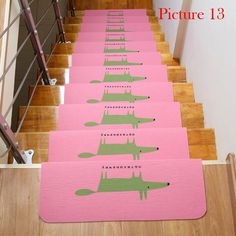 Stair Treads Anti Slip Stair Mats Rugs Pads Runner Mute Staircase Carpet  Home Decor Semicirle Floor Mat Kitchen Rug