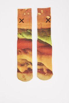 Cheeseburger Socks - Odd Sox - Underwear + Socks : JackThreads