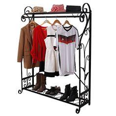 Garderobenständer Stabil metall garderobe genf garderobenständer kleiderschrank metallregal