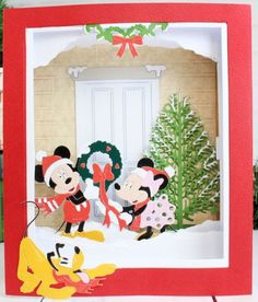 Mickey Christmas, Christmas Ideas, Marvel Cards, Disney Cards, Create And Craft, Card Tags, Disney Mickey Mouse, Vintage Disney, Hobbies And Crafts