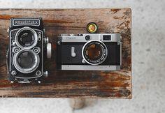 Rolleiflex + Canon #cameras