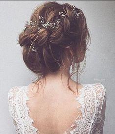 Ulyana Aster Long Wedding Hairstyles & Wedding Updos / www.deerpearlflow… Ulyana Aster Long Wedding Hairstyles & Wedding Updos / www.deerpearlflow… Ulyana Aster Long Wedding Hairstyles & Wedding Updos / www. Rustic Wedding Hairstyles, Wedding Hairstyles For Long Hair, Wedding Hair And Makeup, Bridal Hairstyles, Hairstyle Wedding, Updo Hairstyle, Elegant Hairstyles, Pretty Hairstyles, Up Dos For Medium Hair
