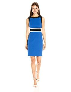 Nine West Womens 3 Combo Colorblock Dress with Waistband Deep BlueBlackIvory 8 -- Be sure to check out this awesome product.