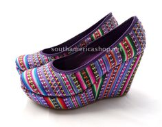 Cool and fashion high heel shoes made in Peru by SouthAmericaShop