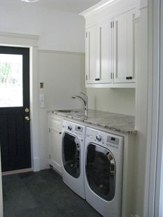Wesley Ellen Design & Millwork - laundry/mud rooms - laundry room, mud room, traditional cabinets, inset cabinets,  Laundry room