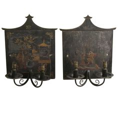 Pair of 18th Cent Chinoiserie Wall Lights | From a unique collection of antique and modern wall lights and sconces at http://www.1stdibs.com/furniture/lighting/sconces-wall-lights/