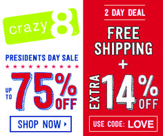 8e720d9ba024c Crazy+8 +Up+To+75%+Off+++Extra+14%+Off+++FREE+Shipping+2+Day+Sale!!