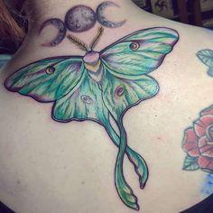 Moth Tattoo Design, Tattoo Designs, Tattoo Ideas, Sternum Tattoo, Chest Tattoo, Lunar Moth Tattoo, Body Art Tattoos, Stomach Tattoos, Different Styles Of Tattoos