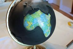 Transform an ordinary globe into a beautiful piece of art with this Anthropologie inspired painted globe project. Globe Projects, Globe Crafts, Painted Globe, Diy Painting, Snow Globes, Art Pieces, Templates, Crafty, Fun