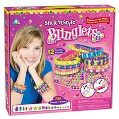 Stick N' Style Blinglets is a top toy in our house, this is a toy our 5 year old loves! Fun Craft, Craft Kits, Craft Supplies, Cool Toys For Girls, Crafts For Girls, Dollar Store Crafts, Crafts To Sell, Diy Crafts, Jewelry Making Kits