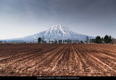 Snow free field ready for use by the farmer. #Yotei #Spring #Fields #Niseko
