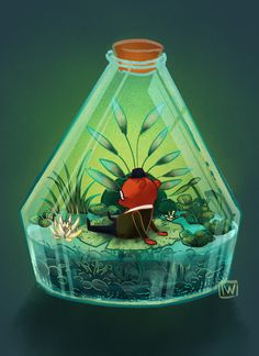 LemonJuiceDay — Night in the wood - Terrariums Mae Bea Gregg Angus