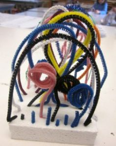 Line Sculpture-- Kindergarten - Art is Basic: an art education blog with art projects for kids