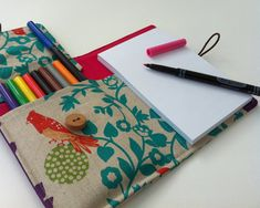 """children's """"art wallet"""": holds art supplies and travels anywhere!"""