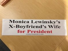 Offensive Anti-Hillary Clinton 'Lewinsky' Bumper Sticker Found In Virginia GOP Headquarters