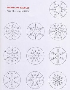 Simple embroidery patterns for snowflakes                                                                                                                                                                                 More