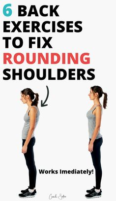 Upper Back Pain Exercises, Neck Exercises, Exercises For Rounded Shoulders, Tone Back Exercises, Exercises To Strengthen Back, Exercise For Back Pain, Back Muscle Exercises, Stretch Band Exercises, Fix Rounded Shoulders