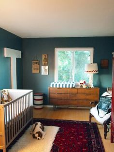 "LOVE this ""explorer's"" nursery/bedroom for a little boy (could tweak it just a little for a girl, too!)"