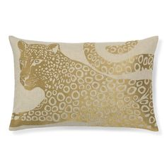 Gilded Cheetah Pillow Cover, Gold #williamssonoma