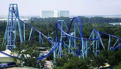 SeaWorld Manta Roller Coaster | Manta é uma montanha-russa no parque SeaWorld, Orlando, Flórida ...
