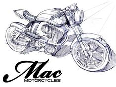Mac motorcycle concept sketch
