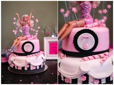 Pink Barbie Birthday Party © Limefish Studio  I love this cake!! Perfect for a July birthday!