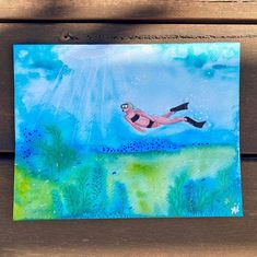 """Anna Just on Instagram: """"Day 18 prompt 'diving deep! #paintingasapractice challenge. Inks only paper.  #paintingchallenge #inkonpaper #workonpaper #paintingprompts…"""" Mixed Media Artwork, Prompts, Diving, Anna, Challenges, Deep, Paper, Painting, Instagram"""