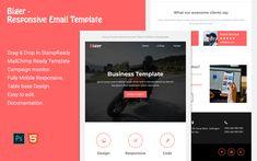 Biger - Responsive Email Newsletter Template Email Templates, Newsletter Templates, Blogger Templates, Responsive Email, Mobile Responsive, Campaign Monitor, Email Client, Email Newsletters, Newsletter Design