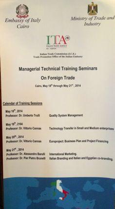 Seminar at Cairo - International Marketing