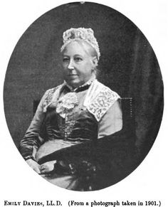 Emily Davies  British Advocate of Women's Rights  Emily Davies was an early British advocate for women's rights. She helped to found Britain's first women's college, Girton College. She was part of the suffrage movement, but opposed the militancy of the Pankhursts and others.