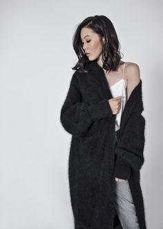 byTSANG – http://tsangtastic.com | Instagram @tsangtastic  byTSANG Fuzzy Cardigan Coat, Fluffy Cardigan, Fuzzy Cardigan Black