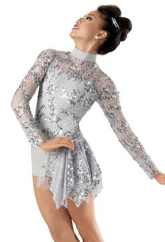We wore this costume for a dance called shooting star and it was acro. We had a big star to do tricks on and my friend Carrisa fell off the top of ...