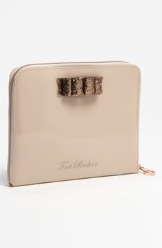 Fashionably cute! Ted Baker London 'Glitter Bow' iPad Case available at Nordstrom