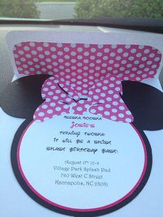 Diy Printable Minnie Mouse Invitation Minnie Mouse Birthday