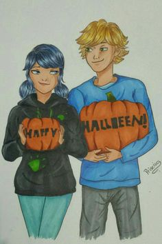 "Miraculous Ladybug and Chat Noir ""Happy Halloween"""