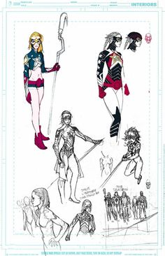 Stargirl by Travel Foreman (Unused designs for Justice League United)