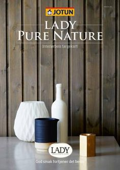 """Cover of """"Jotun LADY Pure Nature fargekart"""" Jotun Lady, Safari, Home Living, Mineral, Make It Simple, Urban, Pure Products, Stone, Nature"""