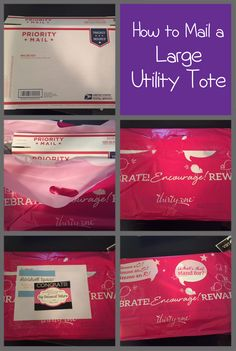 "This post is for my Thirty-One sisters! One of our most frequently asked questions is… ""How in the world can I mail a Large Utility Tote?"" I mail a lot of products out to my custo…"