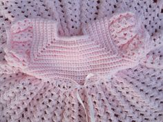 Pink Crocheted Baby Dress  Holiday Dress Ready to by Ritaknitsall, $47.00