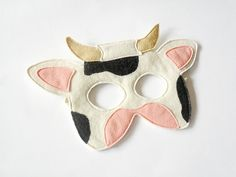 Kids Cow Mask Carnival Nativity Costume Children by BHBKidstyle, €11.50