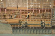 Secció longitudinal del vapor Reina Victòria Eugènia. Bodegues. Primera meitat s. XX. Autor desconegut. 10351 MMB