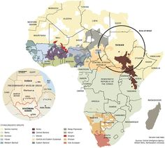 Political and Ethnolinguistic Map of Africa