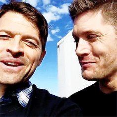 Jensen's smile for Misha <3