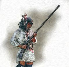 warrior-with-rifle-french-and-indian-war-randy-steele