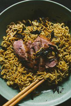 duck-fat scallion noodles - le jus d