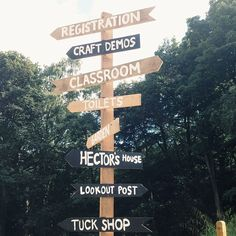 Signpost idea, with our activities on each arrow...
